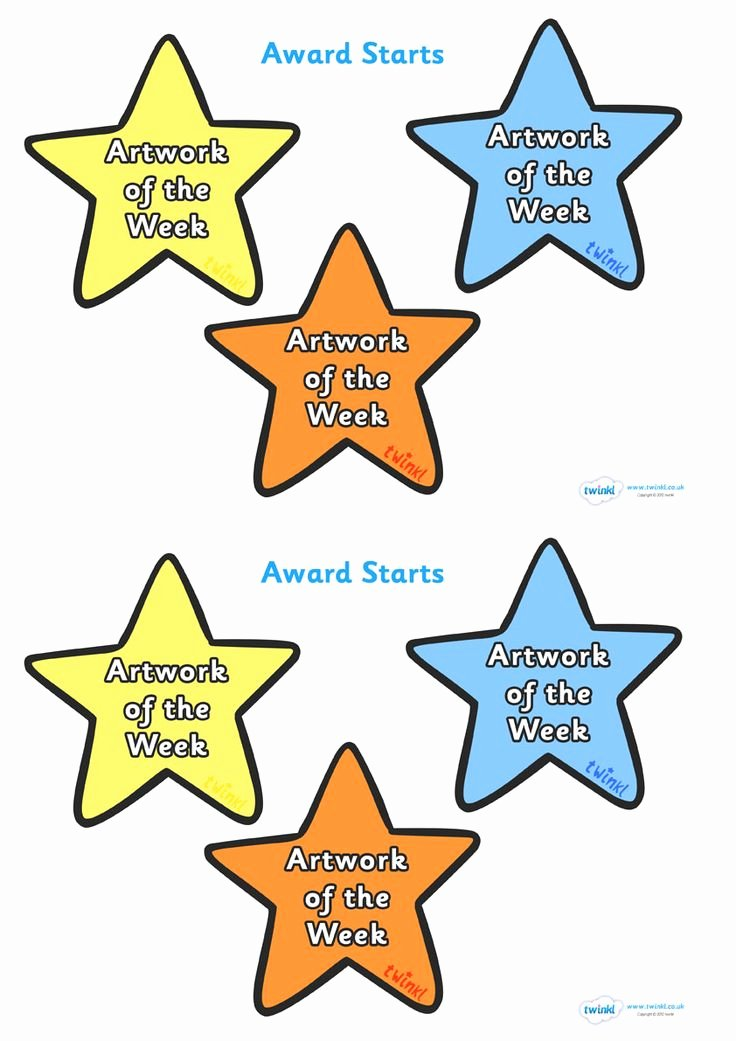 Star Of the Week Printable Elegant 15 Best Images About Awards On Pinterest