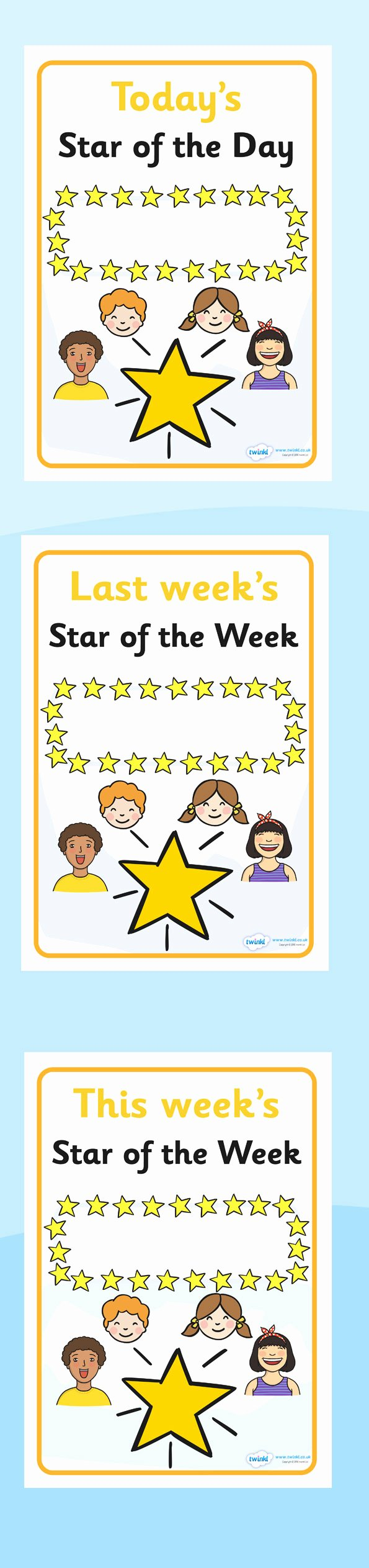Star Of the Week Printable Fresh Twinkl Resources Star Of the Week and Day Display