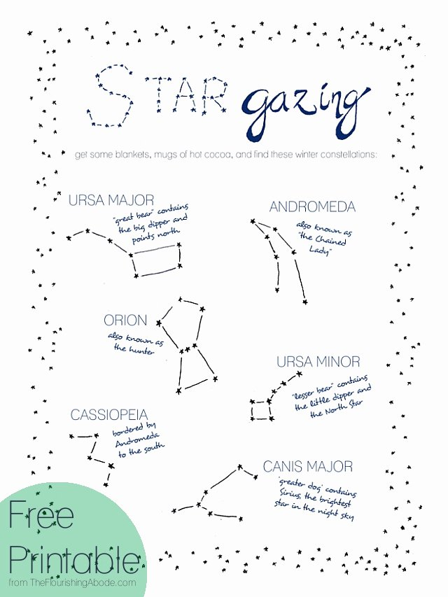 Star Of the Week Printable New Adventure Challenge Week 4 Go Stargazing the