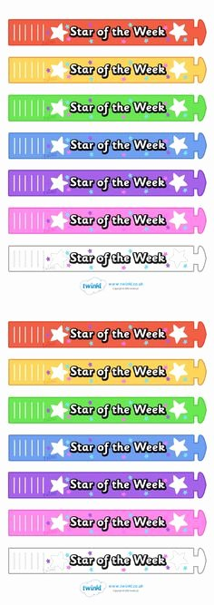 Star Of the Week Printable New Free Star Awards