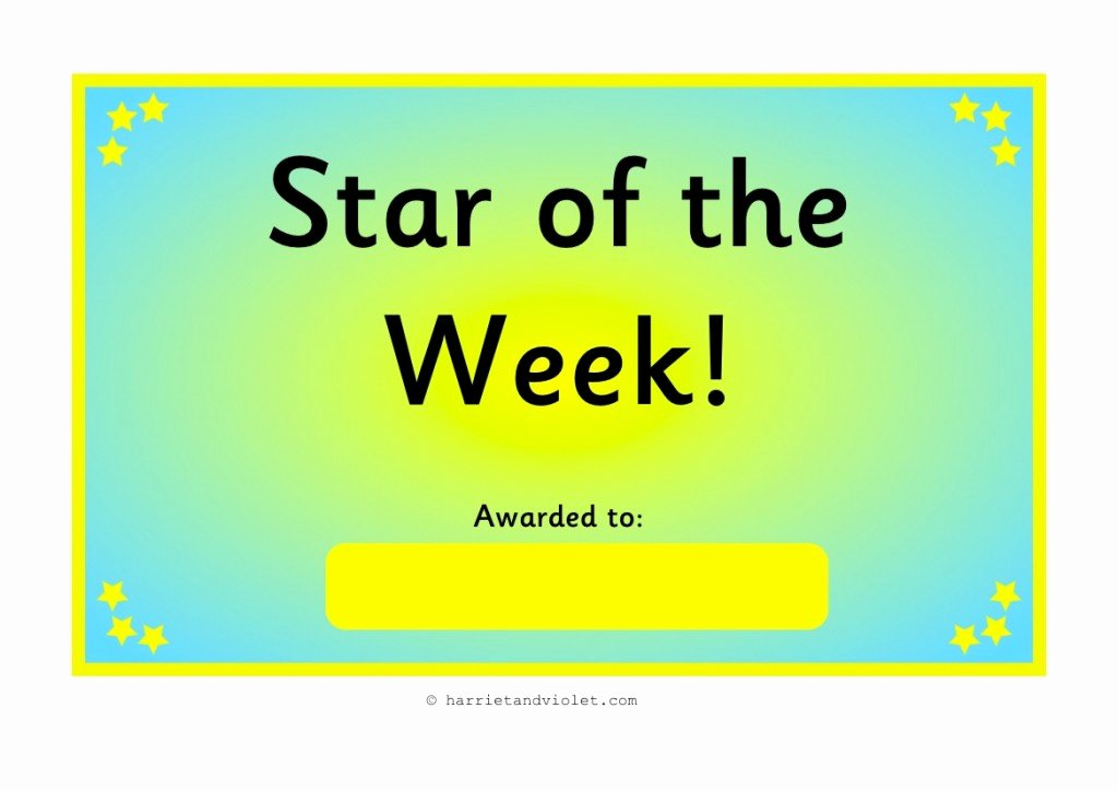 Star Of the Week Printable New Free Teaching Resources Eyfs Ks1 Ks2 Primary Teachers
