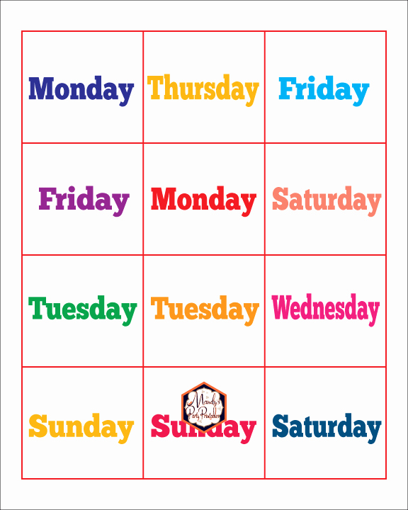 Star Of the Week Printables Beautiful Vipkid Free Printable Days Of the Week
