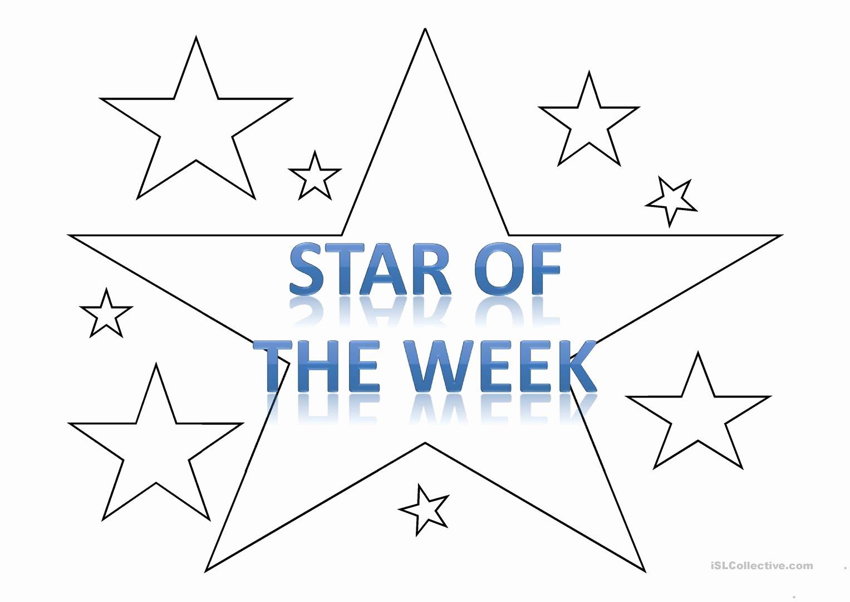 Star Of the Week Printables Best Of Star Of the Week Template Worksheet Free Esl