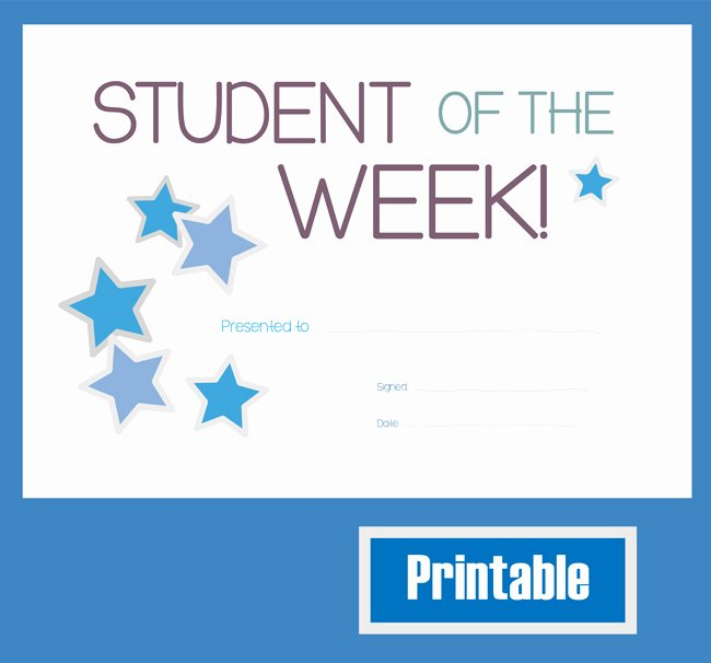 Star Of the Week Printables Fresh Best S Of Printable Certificates for Students
