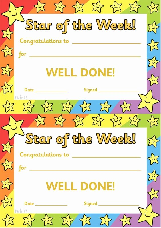 Star Of the Week Printables Lovely Twinkl Resources Star the Week Thousands Of