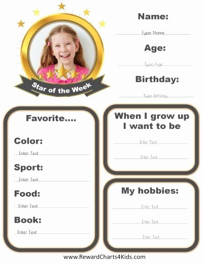 Star Of the Week Printables Luxury Star Of the Week Poster that Can Be Customized Online
