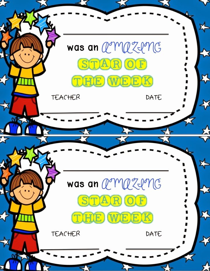 Star Of the Week Printables New Teacher Deals and Dollar Steals Star Of the Week Dollar