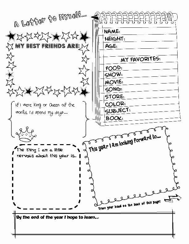 Star Of the Week Template Elegant 18 Best Of Student the Week Preschool Worksheets