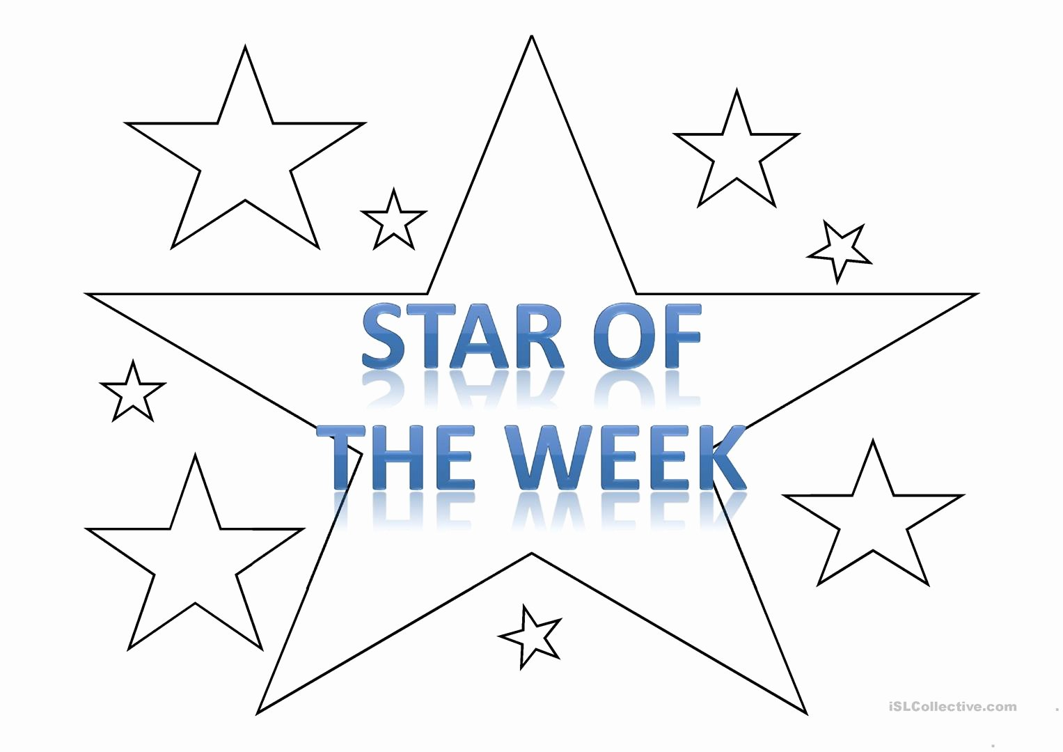 Star Of the Week Template Fresh Star Of the Week Template Worksheet Free Esl