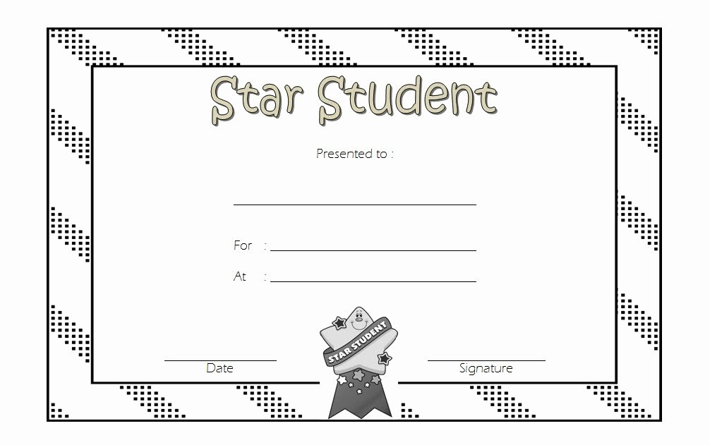 Star Of the Week Template Inspirational Star Student Certificate Template top 10 Super Class Ideas