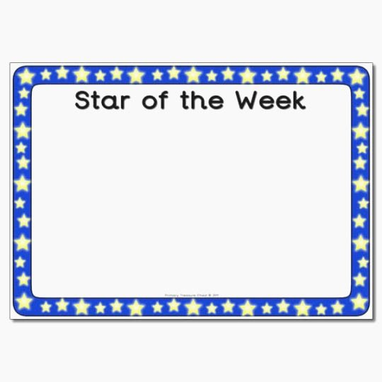 Star Of the Week Template New Remarkable Star Student Poster Printable