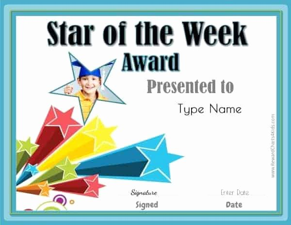 Star Of the Week Templates Best Of Student Of the Month
