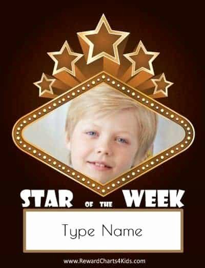 Star Of the Week Templates Lovely Free Custom Star Of the Week Poster Customize Line