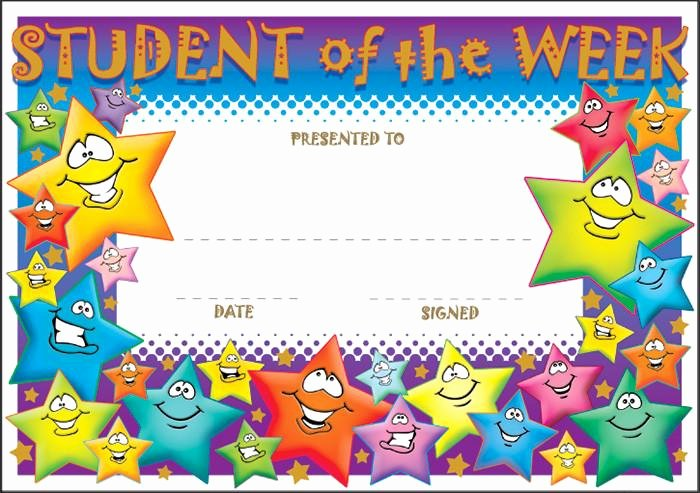 Star Of the Week Templates Luxury Sct006 Student Of the Week