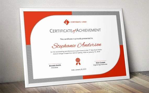 Star Registry Certificate Template Unique Curved Border Corporate Business Certificate Template for