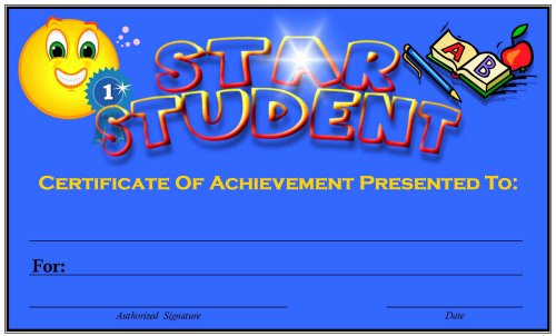 Star Student Award Printable Elegant Free Printable Award Certificates for Elementary Students