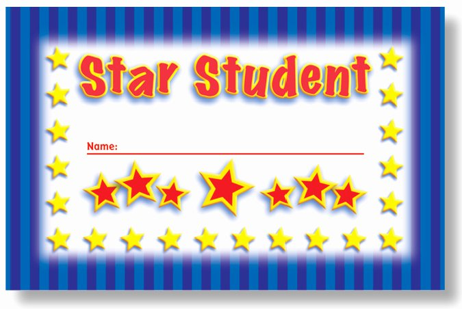 Star Student Award Printable Lovely north Star Teacher Resources Ns2402 Star Student Punch Cards