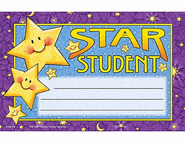 Star Student Award Printable Luxury Star Student Clipart Clipartion