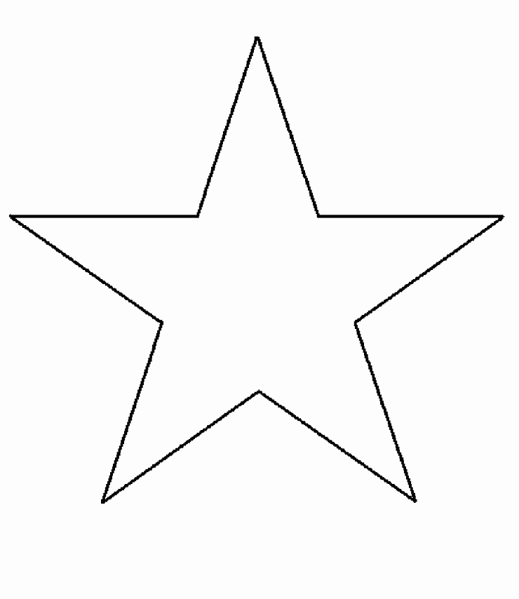 Star Template Printable Free Awesome 6 Best Of 5 Inch Star Template Printable 5 Point