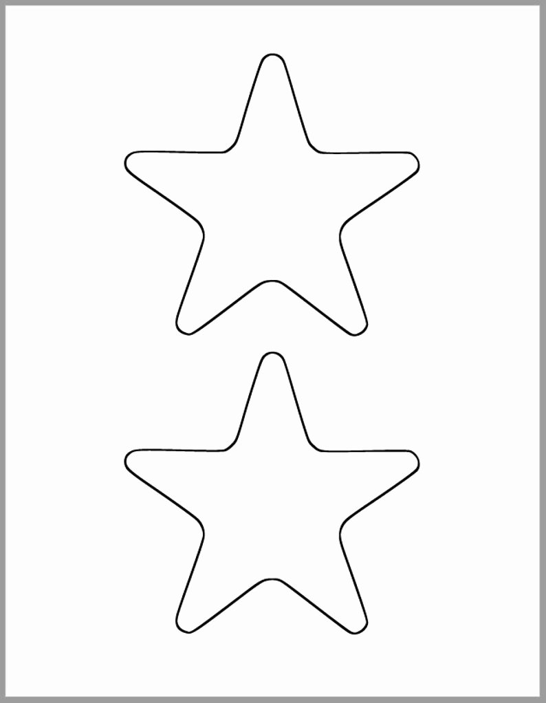 Star Template Printable Free Best Of Printable Star Template 4 5 Inch Starfish Cutout Baby