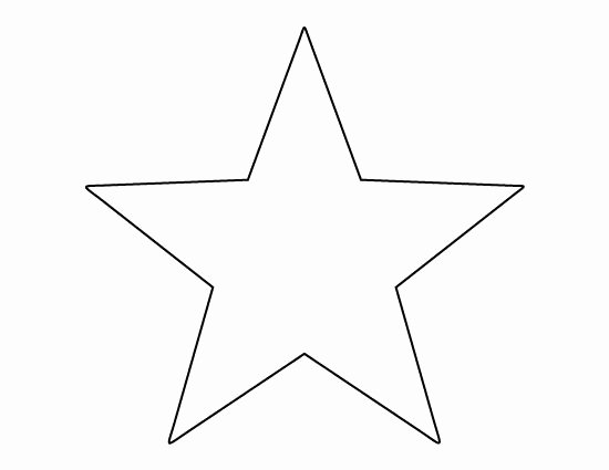 Star Template Printable Free New Printable Full Page Large Star Pattern Use the Pattern