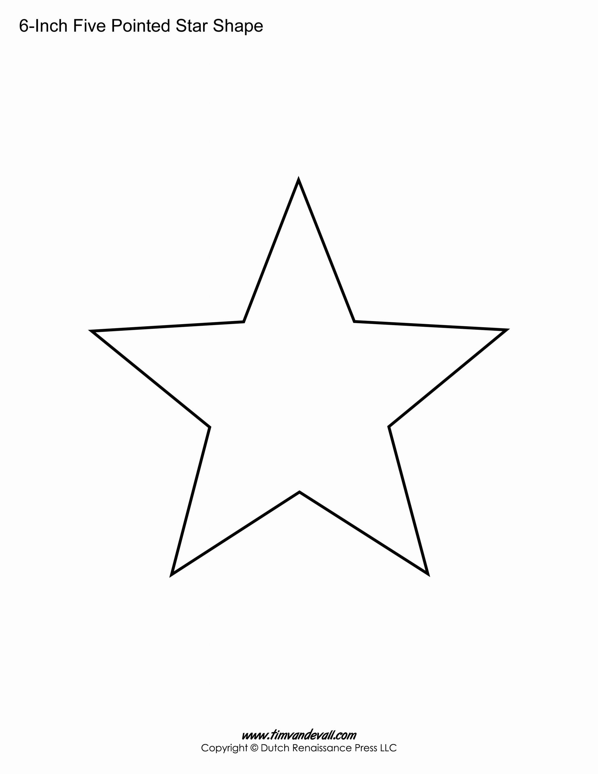 Star Template Printable Free Unique Printable Five Pointed Star Templates Blank Shape Pdfs