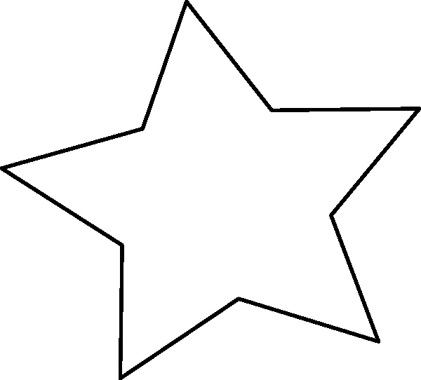 Star Template with Lines Awesome Black Outline Star Clip Art at Clker Vector Clip Art