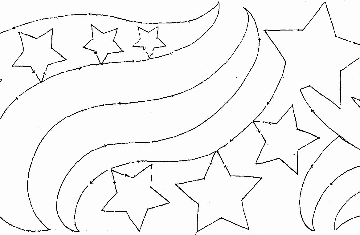 Star Template with Lines New Star Banner 10″ Edge to Edge – Meadowlyon Designs