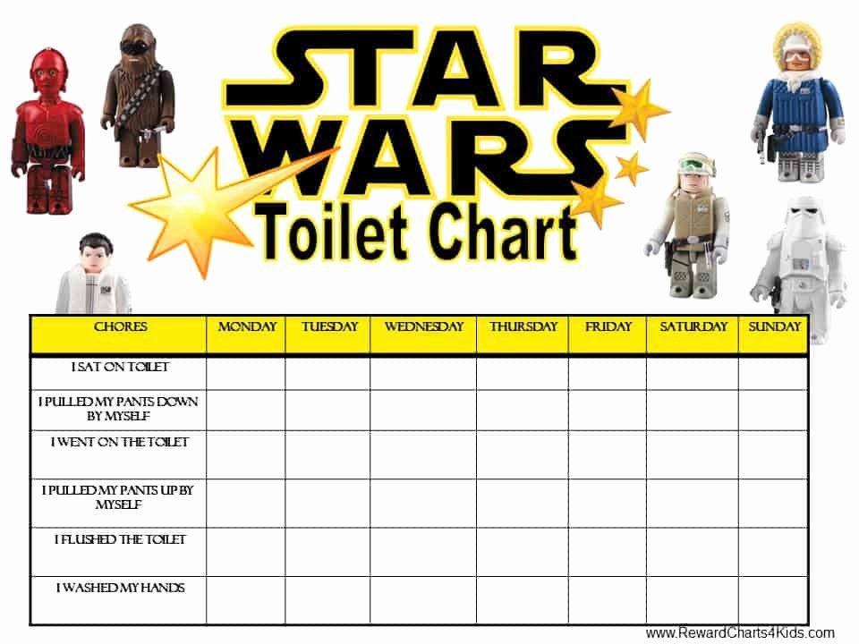 Star Wars Certificate Template Elegant Star Wars Potty Training Chart