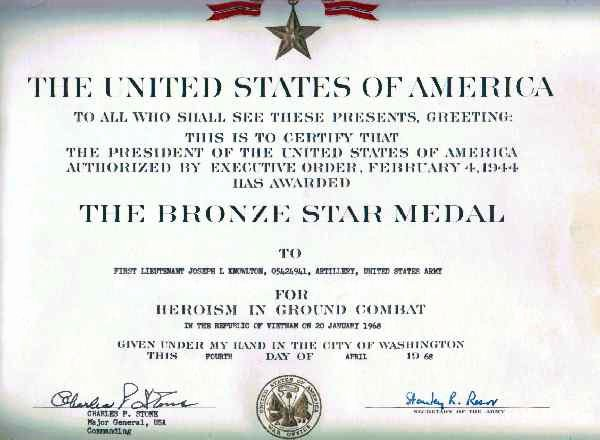 Star Wars Certificate Template Luxury Citation for 1lt Joseph L Knowlton Vietnam