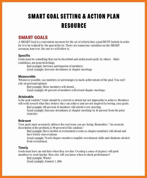 Statement Of Academic Goals Example Luxury 10 11 Smart Goals Examples for Work