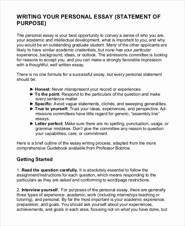 Statement Of Academic Goals Fresh 11 Statement Of Purpose Samples Pdf Word