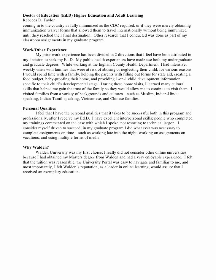 Statement Of Academic Goals Inspirational Personal and Professional Goal Statement