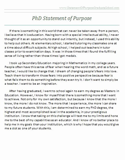 Statement Of Academic Goals Inspirational Successful Sample Statement Of Purpose for Graduate School