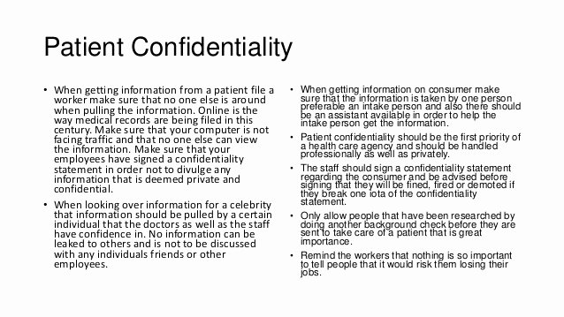 Statement Of Confidentiality Sample Elegant Confidentialty Statement