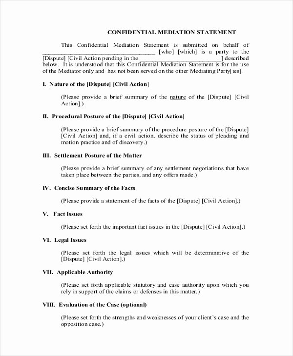 Statement Of Facts Sample Beautiful 14 Settlement Statement Examples Word Pdf