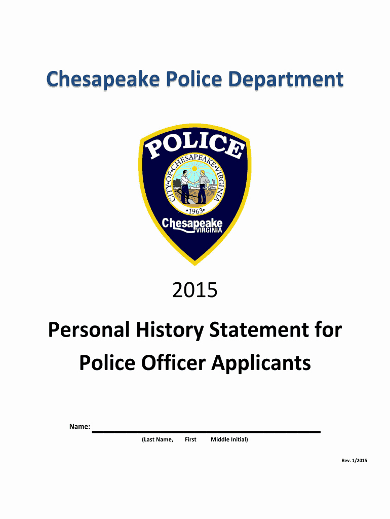 Statement Of Personal History form Best Of 2015 2019 form Va Personal History Statement for Police
