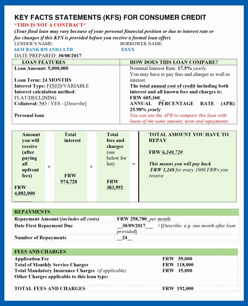Statement Of Personal History form Best Of Key Facts Statement