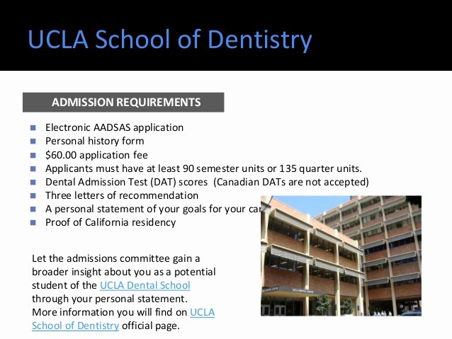 Statement Of Personal History form Luxury top Dental Schools Admission Requirements