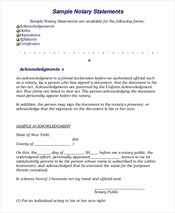 Statement Of Personal History form Unique 19 Sworn Statement Examples & Samples In Pdf Word