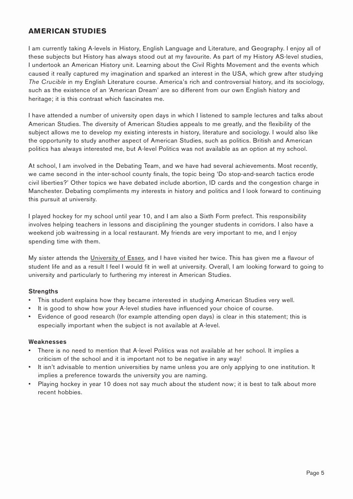 Statement Of Personal History New History Of Art Personal Statement Expert Advice