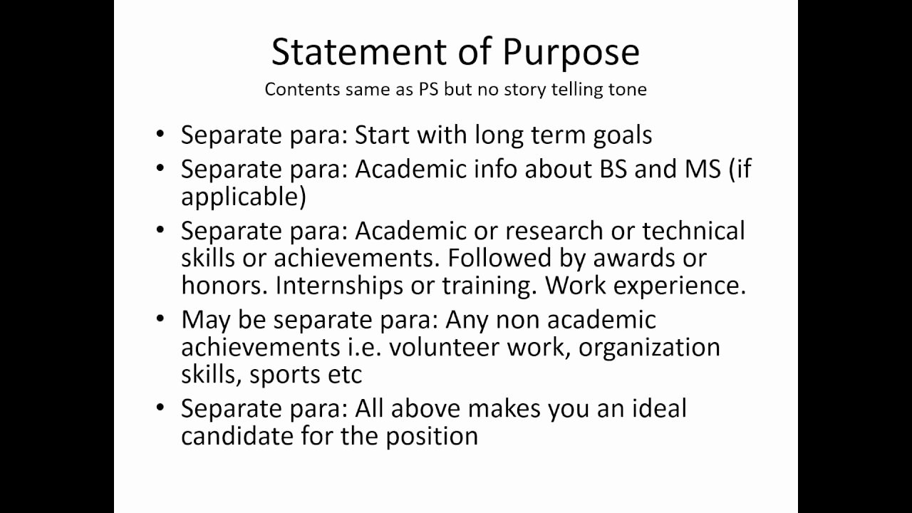 Statement Of Purpose Letter New Personal Statement Statement Of Purpose Motivation