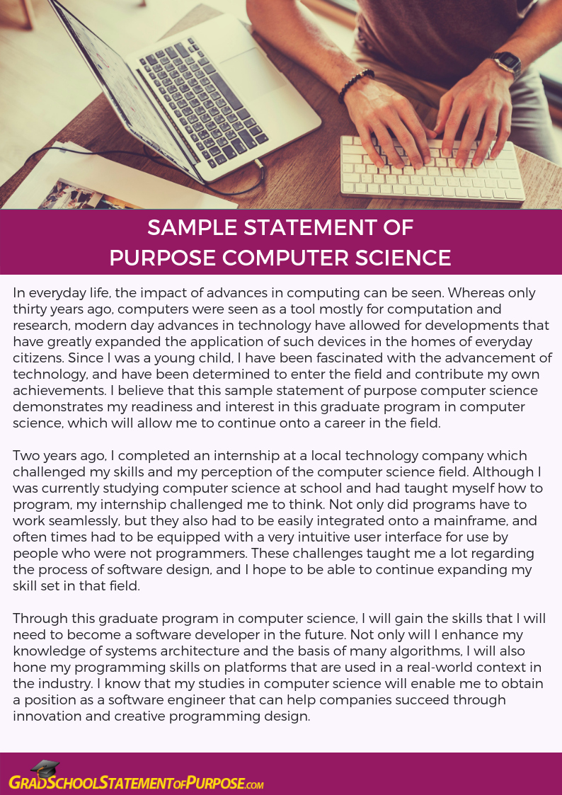 Statement Of Purpose Sample Computer Science Inspirational How to Write Statement Of Purpose Puter Science