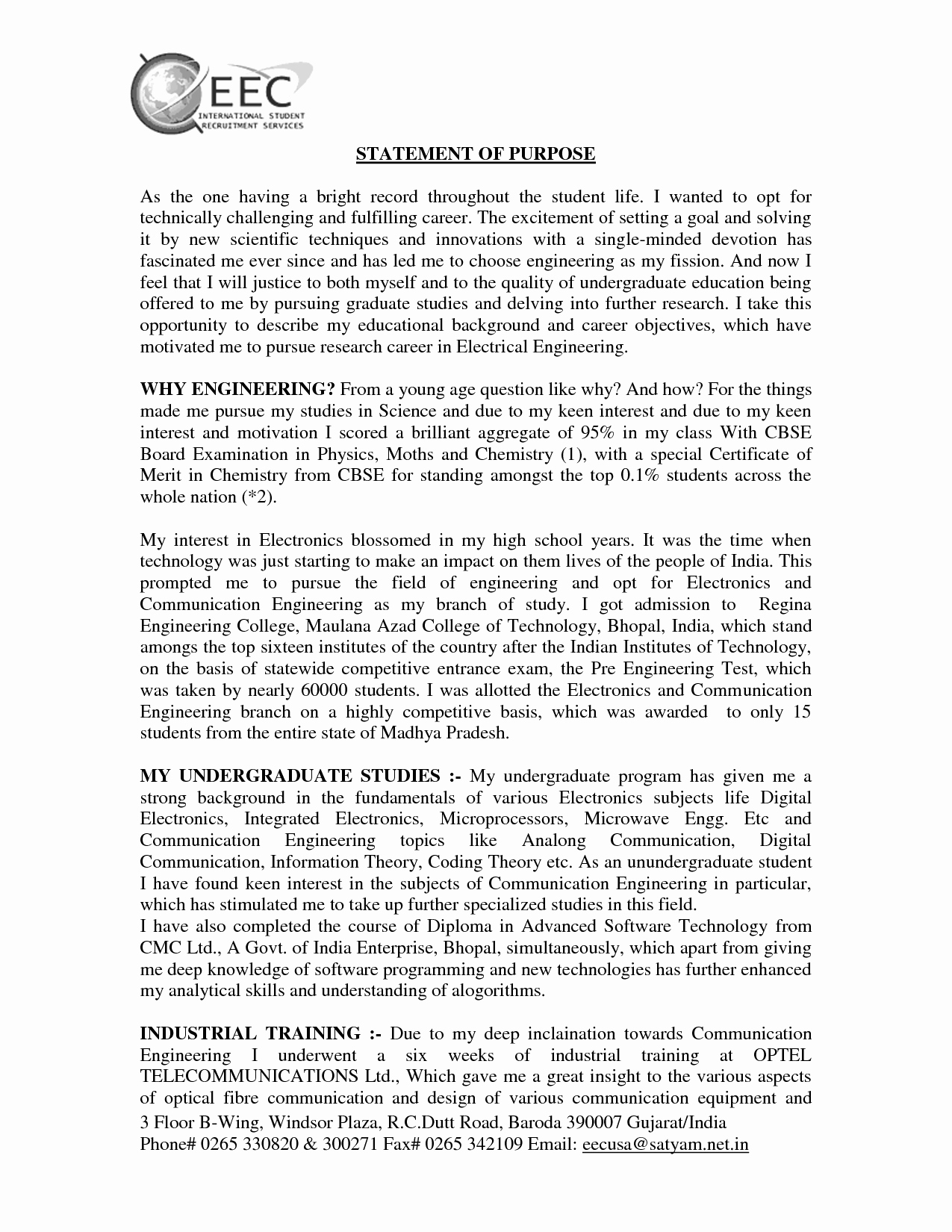 Statement Of Purpose Sample Computer Science Inspirational Related Statement Purpose Graduate School