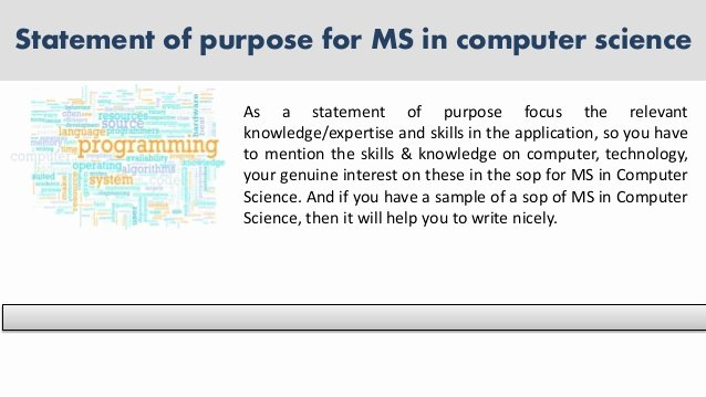 Statement Of Purpose Sample Computer Science Lovely Sample Statement Of Purpose Of Any Kind for You Sample