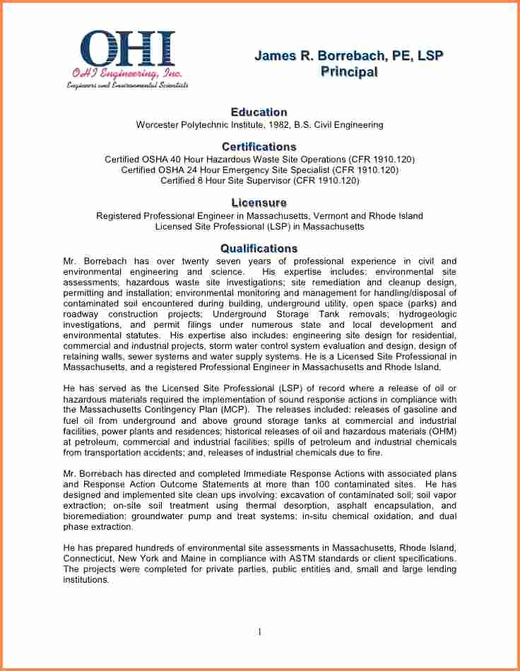 Statement Of Qualifications Example Letter Luxury 6 Statement Of Qualifications Sample