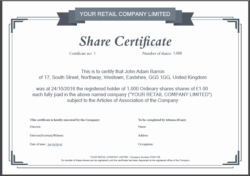 Stock Certificate Template Microsoft Word Beautiful Another Inform Direct Product Update October 2016