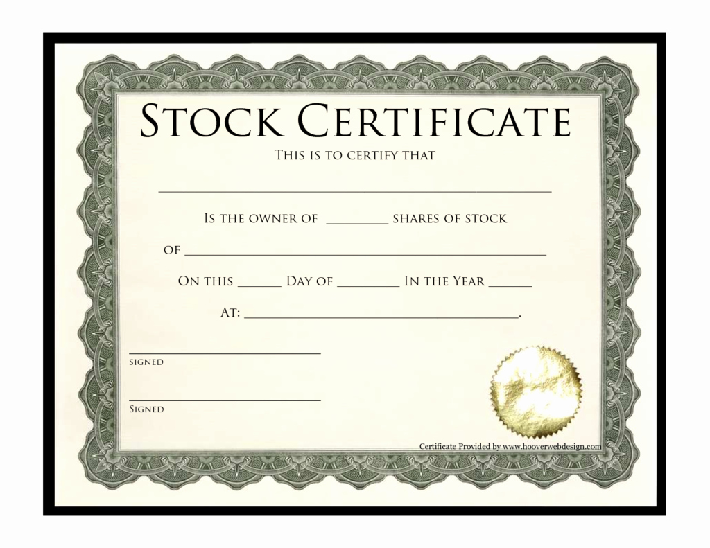 Stock Certificate Template Microsoft Word Elegant Stock Certificate Templates