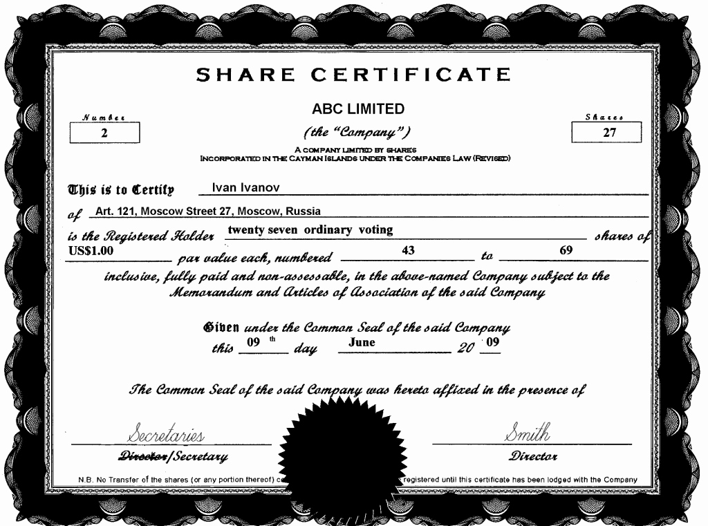 Stock Certificate Template Microsoft Word Unique 13 Stock Certificate Templates Excel Pdf formats