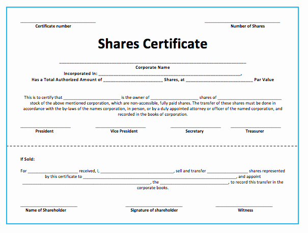 Stock Certificate Template Microsoft Word Unique Stock S Certificate Template Microsoft Word Templates